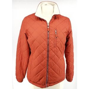 Free Country Quilted Jacket Full Zip Fleece S